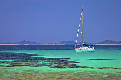 Photograph - Pantera Turquoise Beach On Dugi Otok Island Archipelago Sailing  by Brch Photography