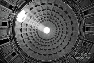 Pantheon Photograph - Pantheon Ceiling by Inge Johnsson