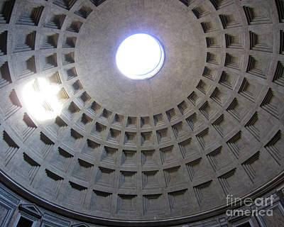 Photograph - Pantheon Cupola Rome by Rudi Prott