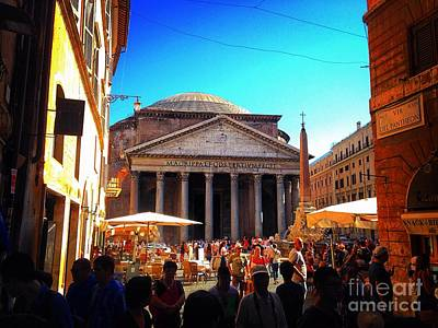 Photograph - Pantheon Exterior by Angela Rath