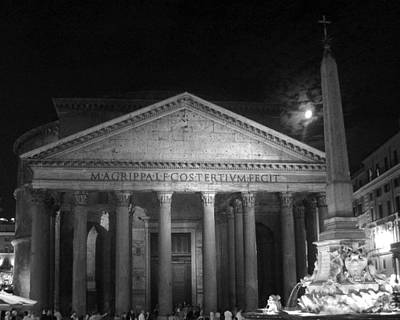 Pantheon Full Moon Art Print by Alan Zeleznikar