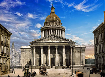 Photograph - Pantheon In Paris - Remastered by Carlos Diaz