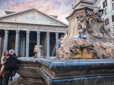 Photograph - Pantheon In Rome by Al Hurley