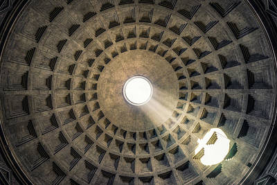 Photograph - Pantheon Oculus by James Billings