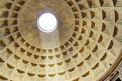 Photograph - Pantheon Oculus by Weston Westmoreland