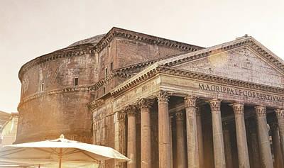 Photograph - Pantheon Piazza by JAMART Photography