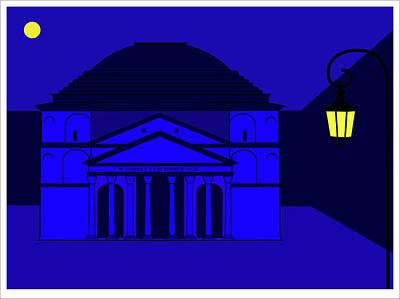 Digital Art - Pantheon Rome by Asbjorn Lonvig