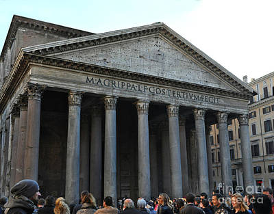 Photograph - Pantheon, Rome, Italy by Eric Liller