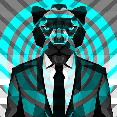 Tuxedo Cat Digital Art - Panther 3 by Gallini Design