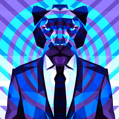 Tuxedo Cat Digital Art - Panther 4 by Gallini Design