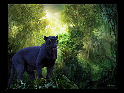 Painting - Panther Alert by Michael Pittas