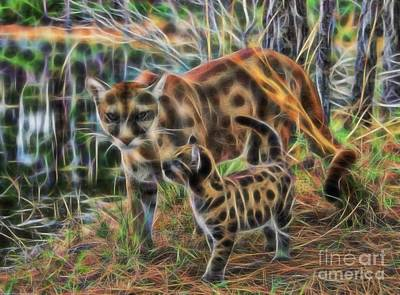 Photograph - Panther And Cub Fractal by D Hackett