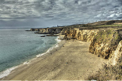 Hdr Photograph - Panther Beach From Cliffs 3 by SC Heffner