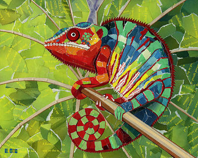Panther Chameleon Art Print by Shawna Rowe
