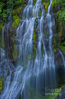 Photograph - Panther Creek Falls Summer Waterfall -close 2 by Rick Bures