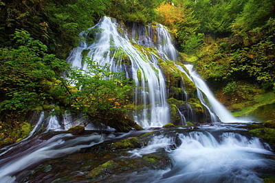 Fall Colors Photograph - Panther Falls by Darren White