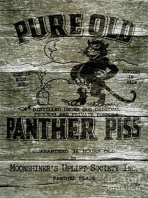 Panther Piss Wooden Sign Print by Jon Neidert