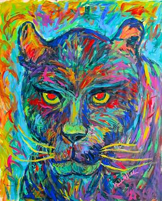 Painting - Panther Stare by Kendall Kessler