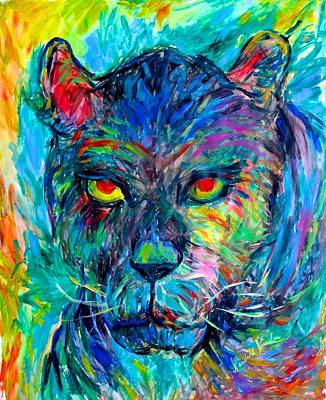 Painting - Panther Stare Stage One by Kendall Kessler