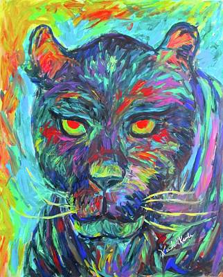 Painting - Panther Stare Stage Two by Kendall Kessler