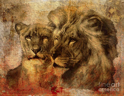 Digital Art - Panthera Leo 2016 by Kathryn Strick