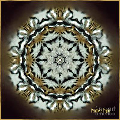 Digital Art - Panthera Tigris Kaleidoscope by Kathryn Strick