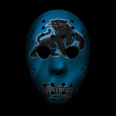 Photograph - Panthers War Mask 3 by Joe Hamilton