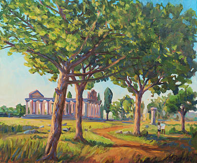 Plain Air Painting - Panting The Old Temples by Marco Busoni