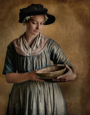 Period Clothing Photograph - Pantry Pondering by Robin-Lee Vieira