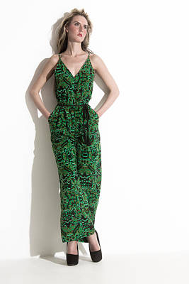 Pantsuit In Green Print by Ralf Kaiser