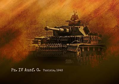 Digital Art - Panzer 4 Ausf G by John Wills