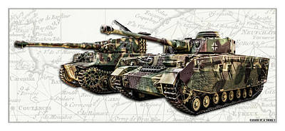 Photograph - Panzer Iv And Tiger Tanks W Bg by Weston Westmoreland
