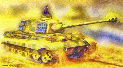 Moving Painting - Panzer Tiger 2 - Pa by Leonardo Digenio