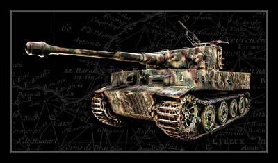 Panzer Tiger I Side Bk Bg Art Print