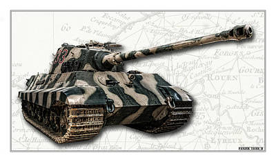 Photograph - Panzer Tiger II Front W Bg by Weston Westmoreland