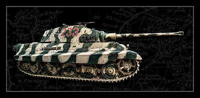 Panzer Tiger II Side Bk Bg Art Print