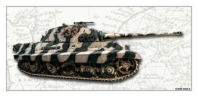 Photograph - Panzer Tiger II Side W Bg by Weston Westmoreland