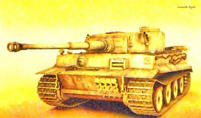 Moving Digital Art - Panzer Vi Tiger - Da by Leonardo Digenio