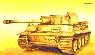 Moving Painting - Panzer Vi Tiger - Pa by Leonardo Digenio