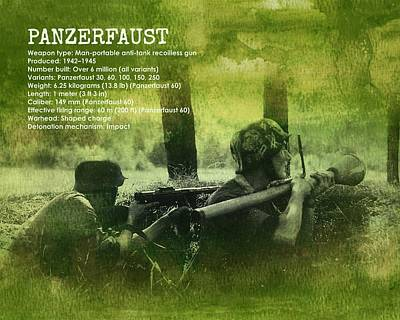 Art Print featuring the digital art Panzerfaust In Action by John Wills