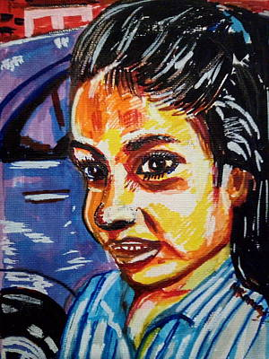 Painting - Paola Remache Aged 6 by Mudiama Kammoh