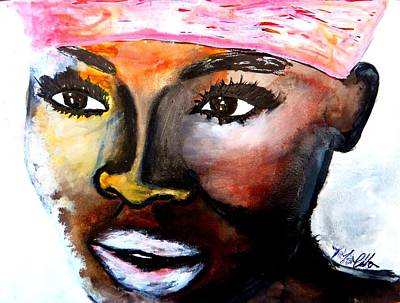 Art Print featuring the painting Paola by Tarra Louis-Charles