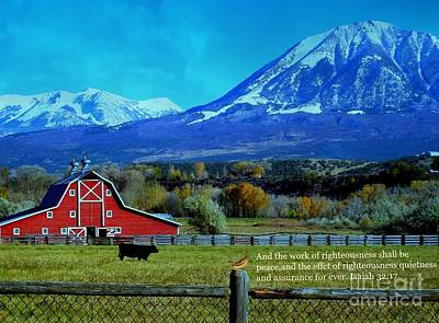 Paonia Mountain And Barn Art Print by Annie Gibbons