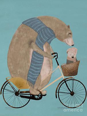 Painting - Papa Bear by Bleu Bri