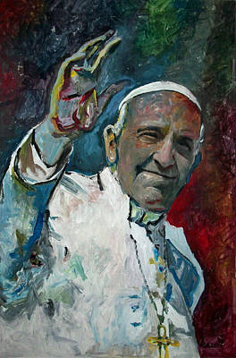 Dio Painting - Papa Francisco - Pope Francis by Marcelo Neira