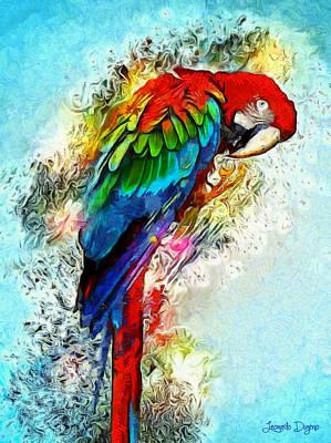 Feeding Painting - Papagaio by Leonardo Digenio
