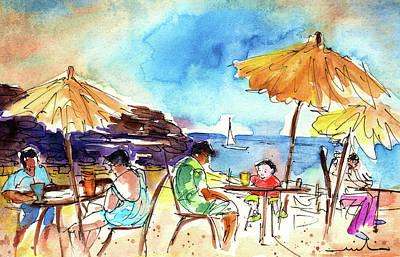 Lanzarote Painting - Papagayo Beach Bar In Lanzarote by Miki De Goodaboom