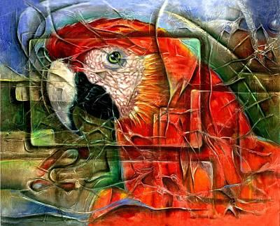 Papagayo Red Macaw Original by Naza Naza