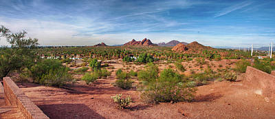 Photograph - Papago Park Panorama by C H Apperson