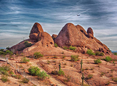 Photograph - Papago Park Rocks by C H Apperson
